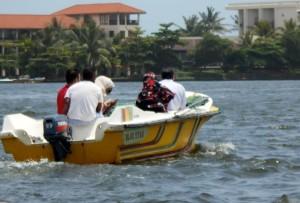 Safari boatd on Bentota river